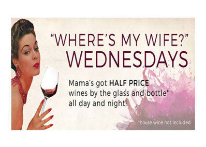 Where's My Wife Wednesdays @ Mama's on 39 - Huntington Beach