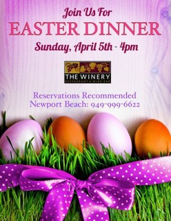 Easter Dinner at the Winery