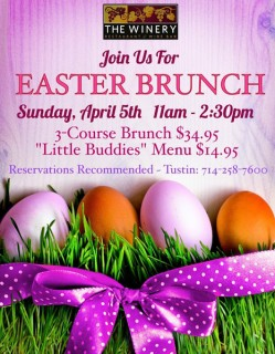 Easter Brunch at the Winery