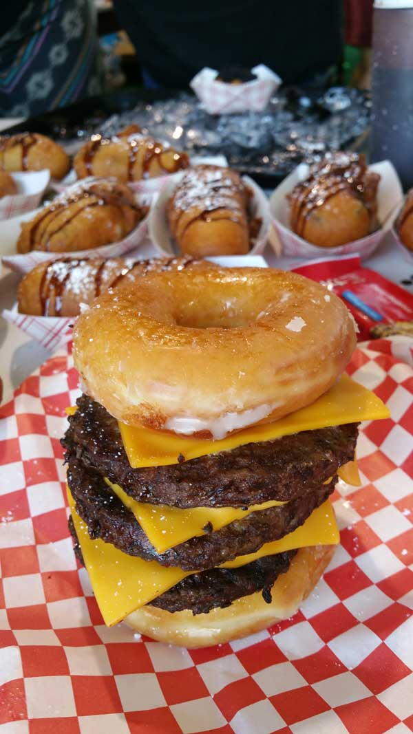 Orange County Fair Donut Burger