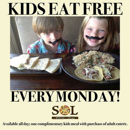 Monday, Kids Eat for Free! @ SOL Cocina - Newport Beach | Newport Beach | California | United States