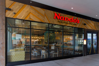 Nando's South Loop Exterior 4 Wo People