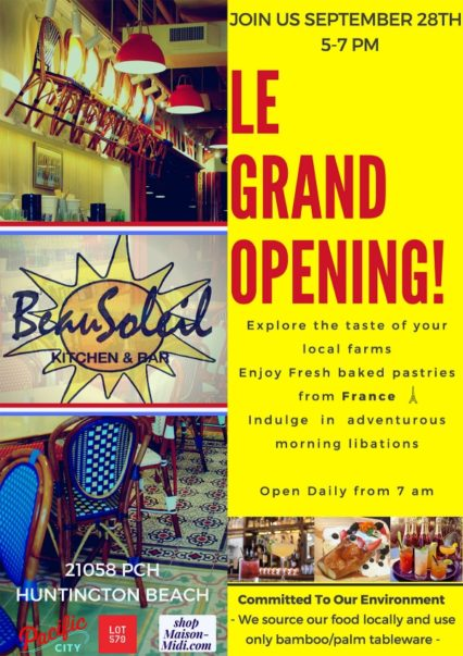 Beau Soleil Le Grand Opening Flyer