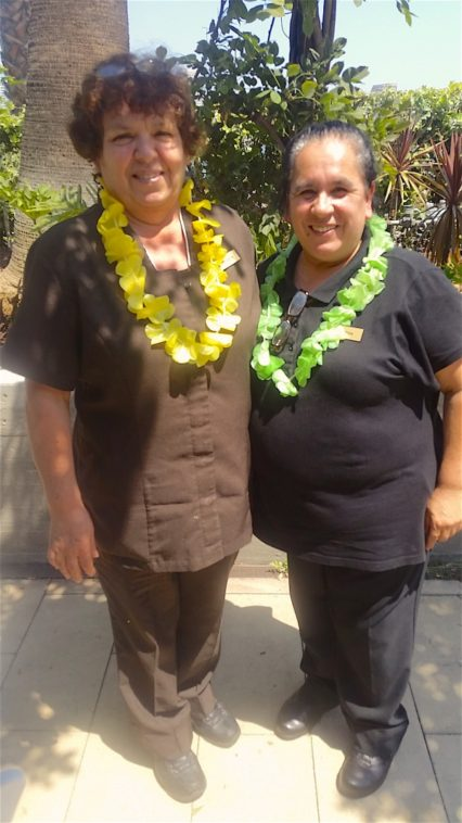 Hotel Maya Celebrates 40 Year Employees From Left, Vicenta Martinez, Room Attendant, Hired On January 26, 1976, And Celsa Gonzalez, Housekeeping Supervisor, Hired On August 23, 1976