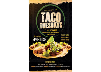All You Can Eat Tacos! @ Rudy's Pub and Grill - Newport Beach | Newport Beach | California | United States