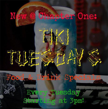 Tiki Tuesdays @ Chapter One: The Modern Local - Santa Ana