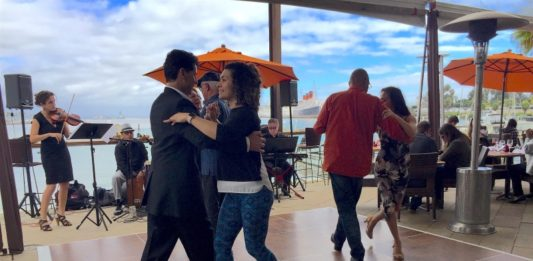 Fuego's Latin Brunch Series Guests Tango