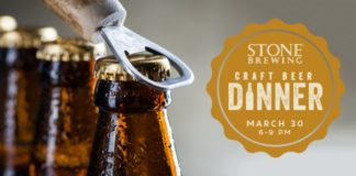 Stone Brewing Craft Beer Dinner Flyer
