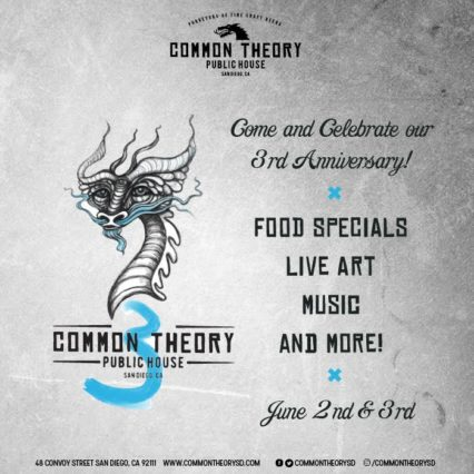 3rd Anniversary Celebration @ Common Theory Public House - San Diego | San Diego | California | United States