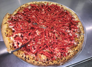 OC Fair Hot Cheetos Pizza