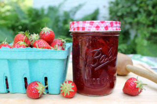 Strawberry Jam Infused With Yerba Mate