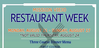 Arroyo Trabuco Restaurant Week