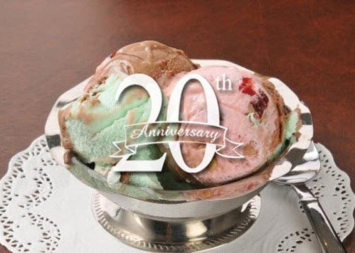 Jack's Restaurant 20th Anniversary Ice Cream
