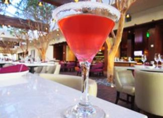Portola Hotel & Spa Pink Panther Lemon Drop