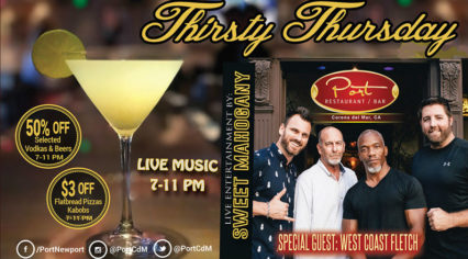 Thirsty Thursdays @ Port Restaurant and Bar - Corona del Mar