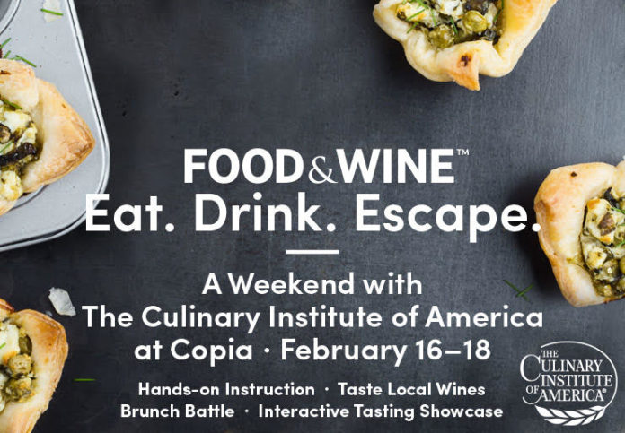 CIA Food And Wine Weekend Banner Blue