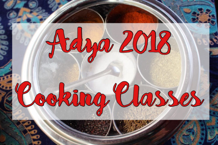 Adya 2018 Cooking Classes