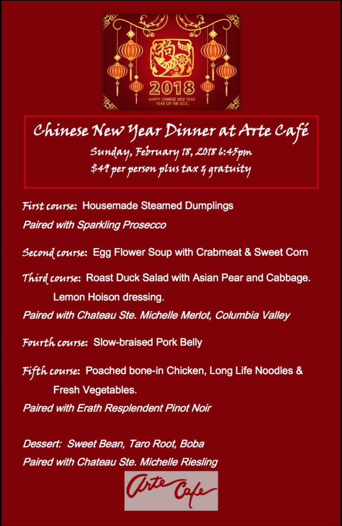 Arte Cafe Chinese New Year