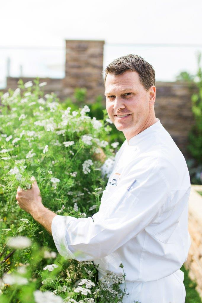 Chef Craig Strong In The Garden At Studio
