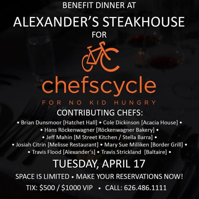 Alexander's Steakhouse Chef Cycle Dinner
