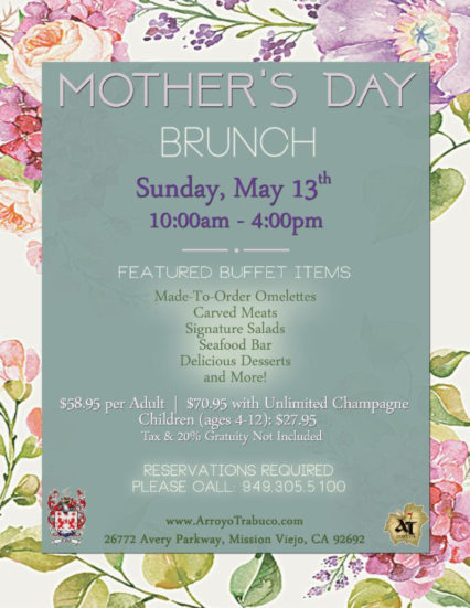 Mother's Day Brunch @ Arroyo Trabuco Golf Course - Mission Viejo | Mission Viejo | California | United States