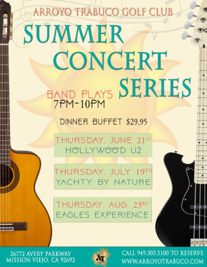 Hollywood U2 Summer Concert & Buffet @ Arroyo Trabuco Golf Course - Mission Viejo | Mission Viejo | California | United States