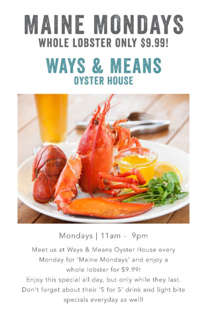Maine Mondays @ Ways & Means Oyster House - Huntington Beach