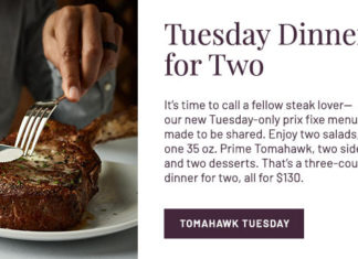 Fleming's Tomahawk Tuesday