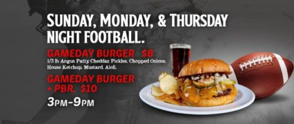 GameDay Burger Sunday @ Tackle Box - Costa Mesa | Costa Mesa | California | United States