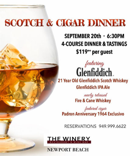 Scotch & Cigar Dinner @ Winery Restaurant & Wine Bar (The) - Newport Beach | Newport Beach | California | United States
