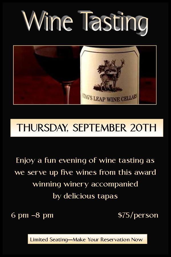 Yves Stag Wine Dinner