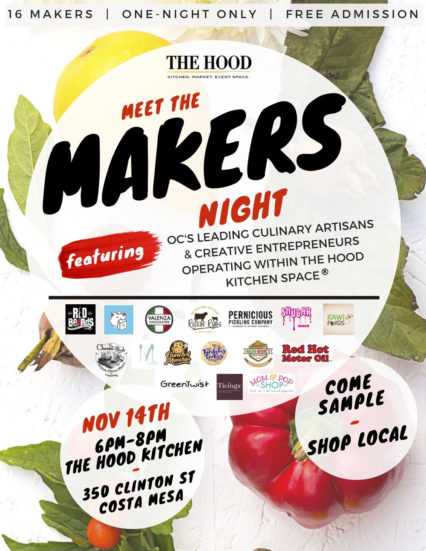 Meet the Makers Night @ The Hood Kitchen Space - Costa Mesa | Costa Mesa | California | United States