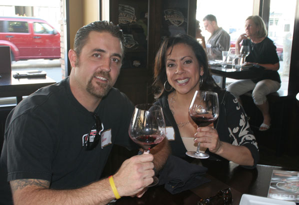 Guests enjoy wine and food at Haven Gastropub in Orange.