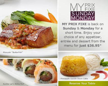 Prix Fixe Sundays and Mondays @ Roy's Hawaiian Fusion Cuisine - Anaheim | Anaheim | California | United States