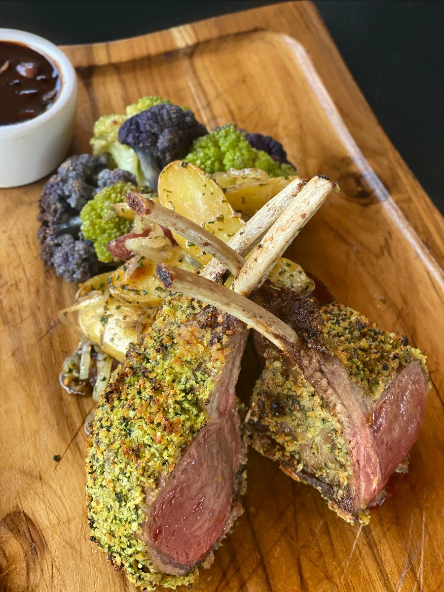 Mozambique Crusted Rack of Lamb