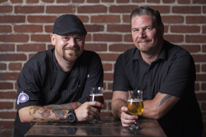 chef Cody Storts and beverage director James Wood