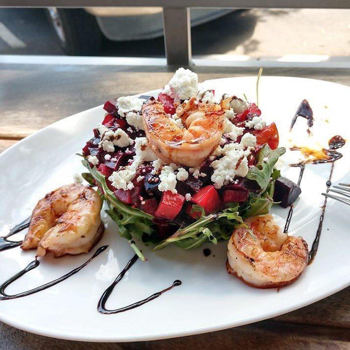 La Cosecha Beet Salad With Shrimp