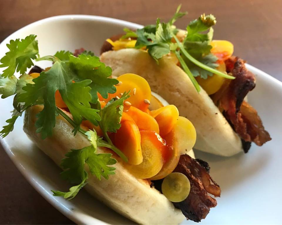 Haven Gastropub Wagyu Beef Bacon Steam Buns