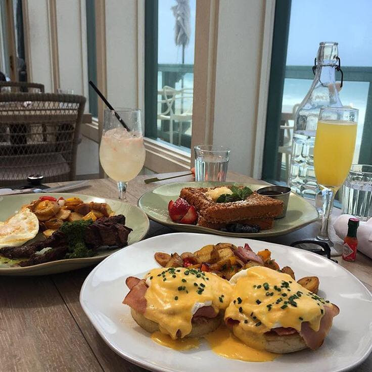Brunch menu is served every Saturday and Sunday