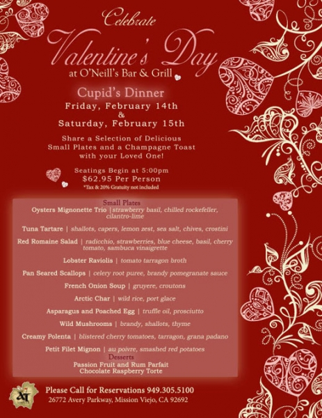 Valentine's Day at O'Neill's