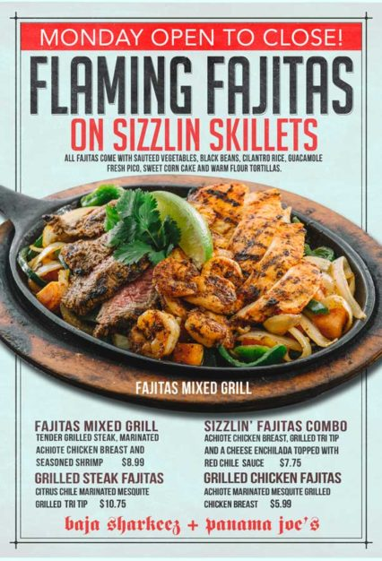 Flaming Fajitas & Sizzilin' Skillets @ Baja Sharkeez | Newport Beach | California | United States