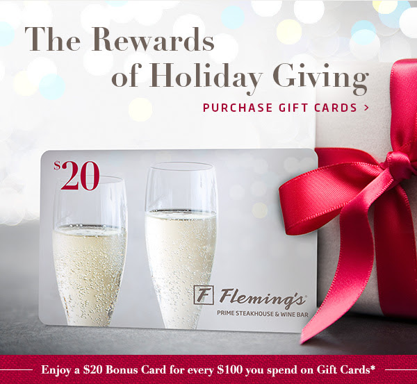 The Rewards of Holiday Giving -  Purchase Gift Cards