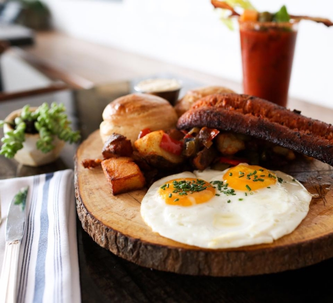 SeaSalt Woodfire Grill - Hearty Breakfast