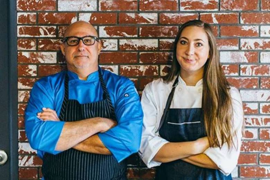 baker & olive Sommelier and Executive Chef Sean Fisher & Newport Beach Chef Manager and Fromager Ashley Cochrane