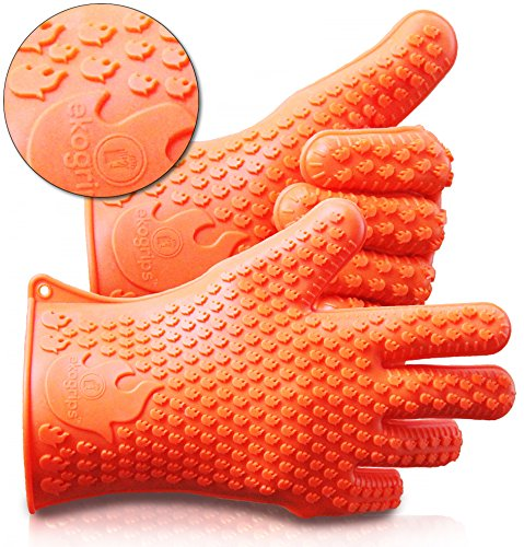 Ekogrips Max Heat Silicone Bbq Grill Oven Gloves Best Heat Protection Designed In Usa 3 Sizes 0 Jpg