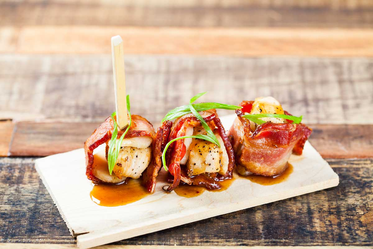 Rumkai - Bacon Wrapped Chicken & Water Chestnuts with Ginger Glaze