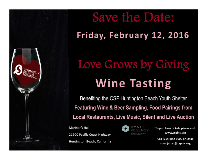 2016 CSP Love Grows By Giving Save The Date