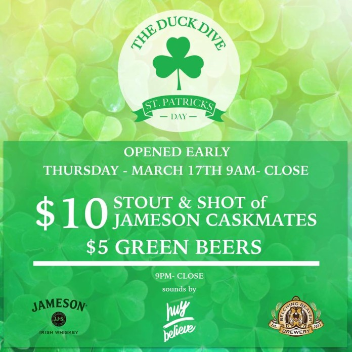The Duck Dive St Patrick's Day