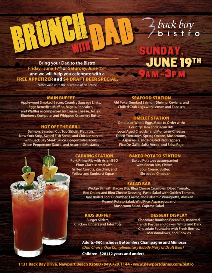 Back Bay Bistro Father's Day
