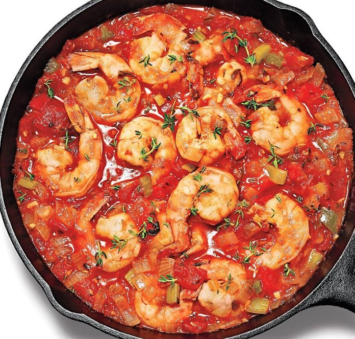 Shrimp Creole With Sofrito